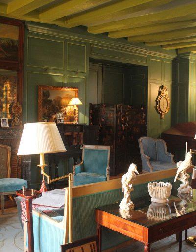 Château Hodebert salon bleu